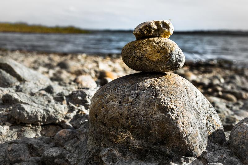 Stacking Brown Stones royalty free stock image