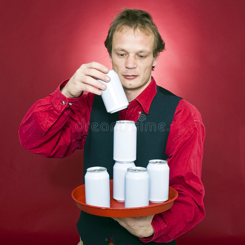 Stacking Cans Stock Photo
