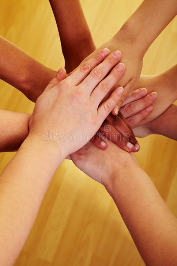Download Stacking hands together stock photo. Image of friendship - 14862094