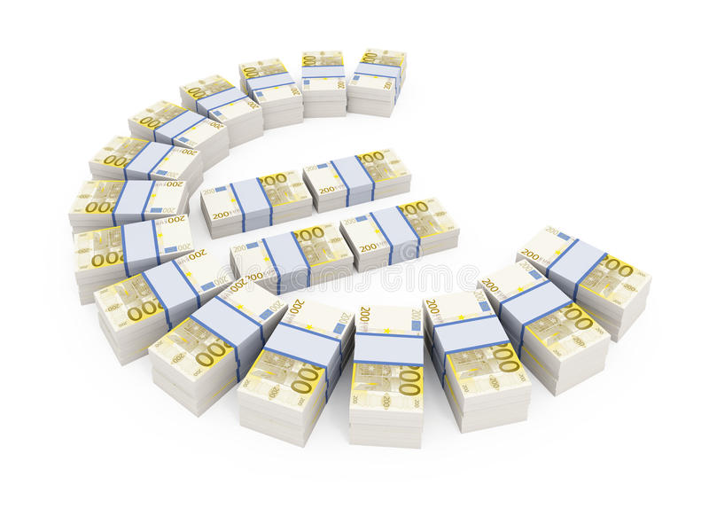 Download Stacks Of 200 Euro Currency Notes Stock Illustration - Image: 17988214