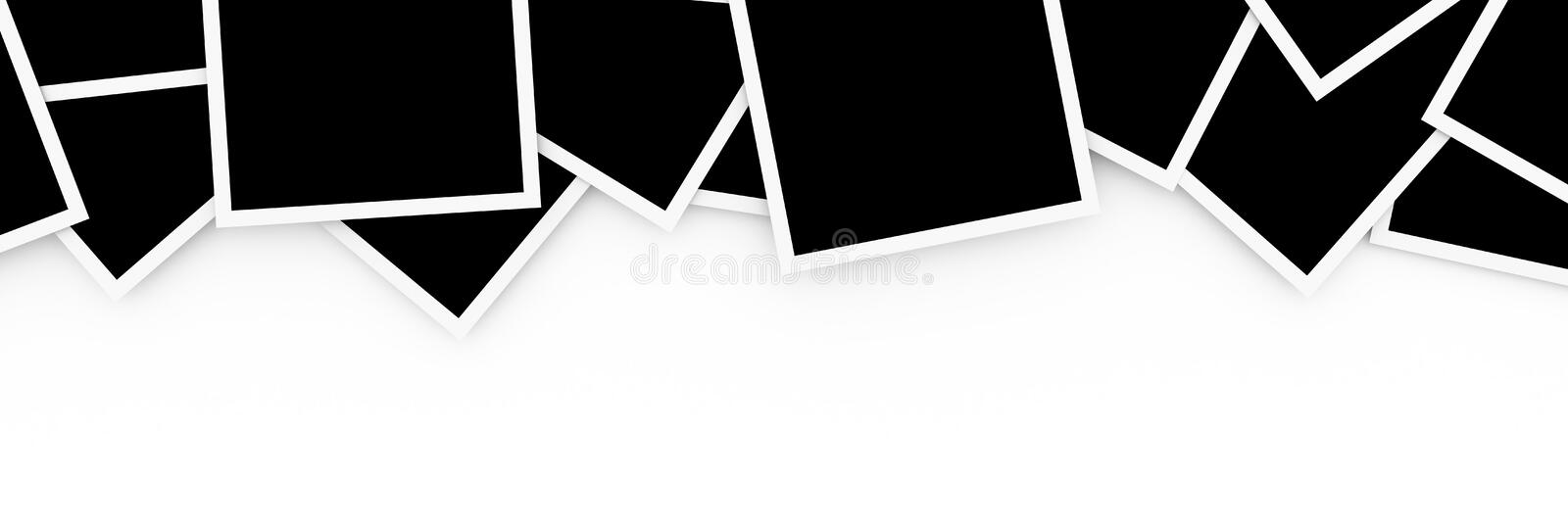 Download Stacks of blank photos stock illustration. Image of photo - 97178867