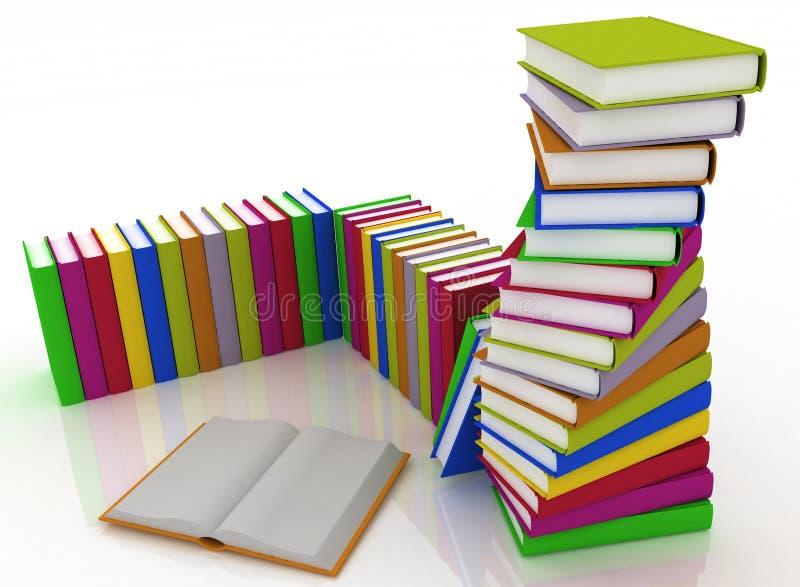 Download Stacks of books stock illustration. Illustration of bunch - 24980546