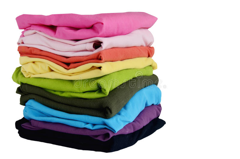 Stacks Clothes Colorful royalty free stock image