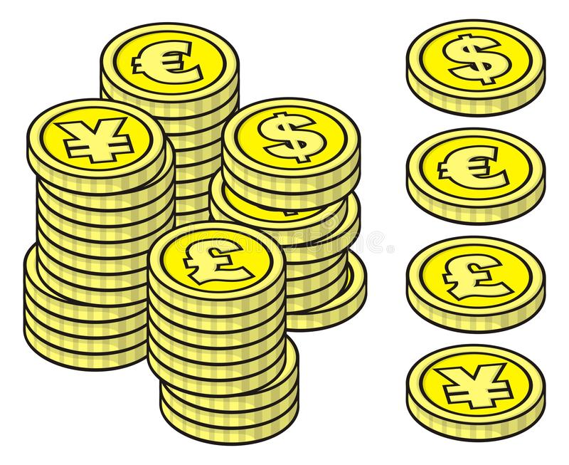Download Stacks of coins stock vector. Illustration of pound, money - 19341436