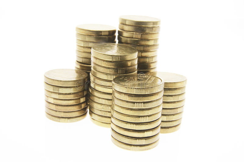 Stacks of Coins royalty free stock photography