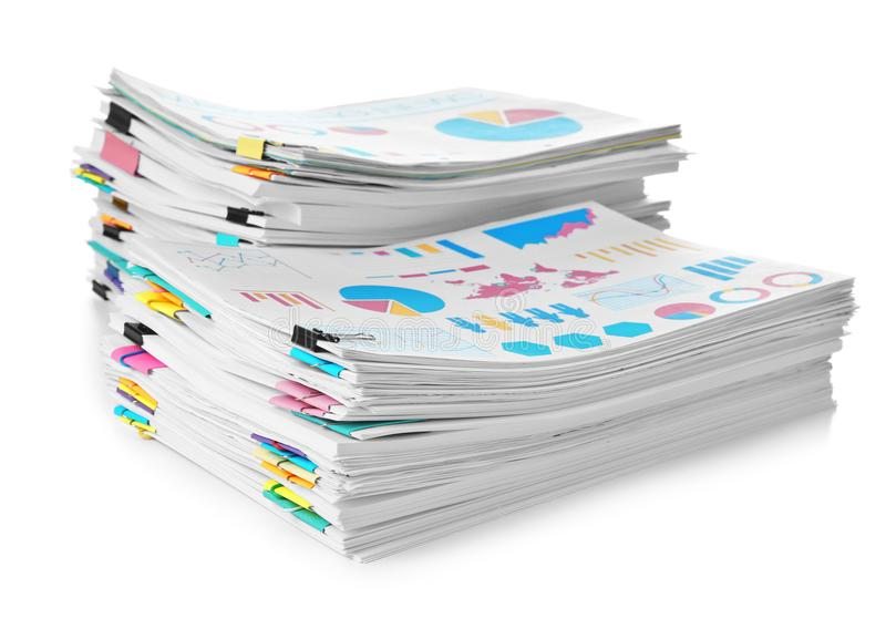 Stacks of documents stock photo