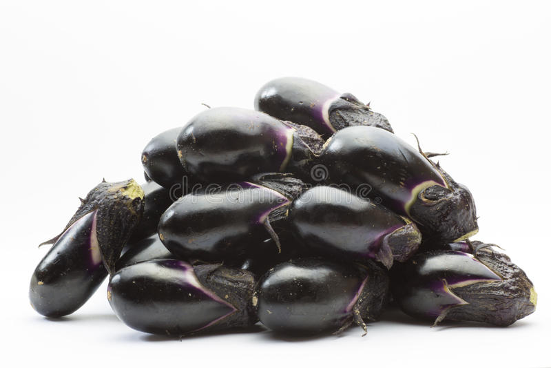 Stacks Of Eggplant Stock Photography