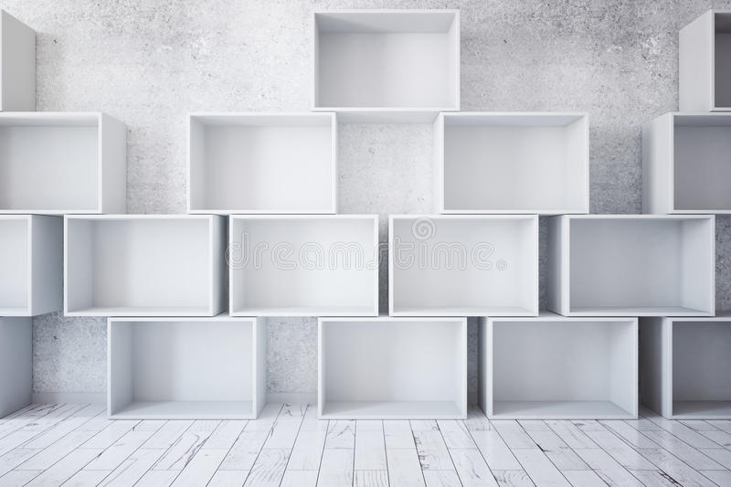 Stacks of empty boxes royalty free illustration