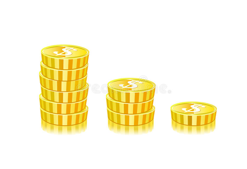 Download Stacks Of Gold Coins stock vector. Image of graph, large - 22623117