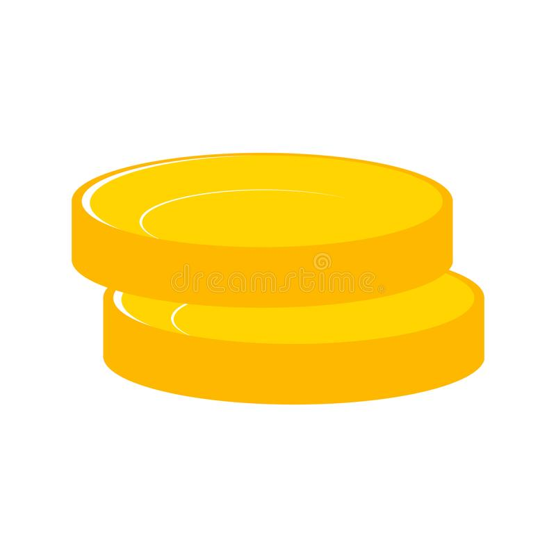 Stacks of gold money coins. Income money coins and money coins p vector illustration