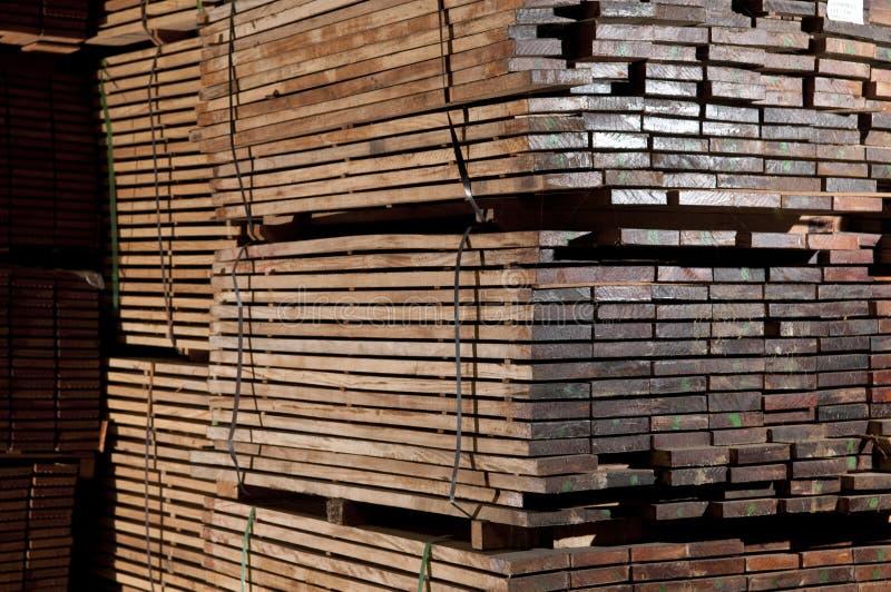 Stacks of hardwood
