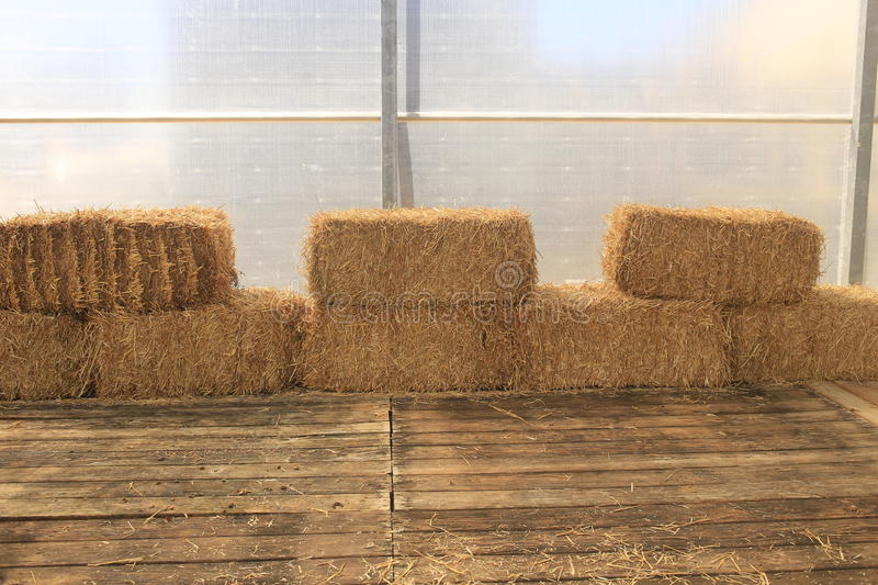 Stacks of Hay royalty free stock images