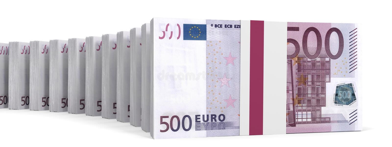 Download Stacks Of Money. Five Hundred Euros. Stock Illustration - Illustration of bank, credit: 90504277
