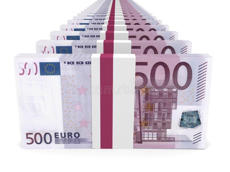 Download Stacks Of Money. Five Hundred Euros. Stock Illustration - Illustration of financial, market: 90555855