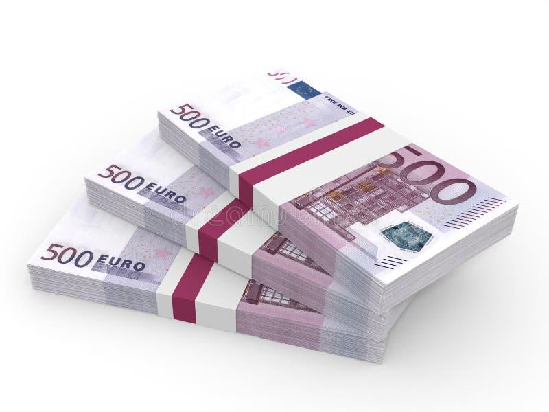 Download Stacks Of Money. Five Hundred Euros. Stock Illustration - Illustration of banknote, monetary: 90649889