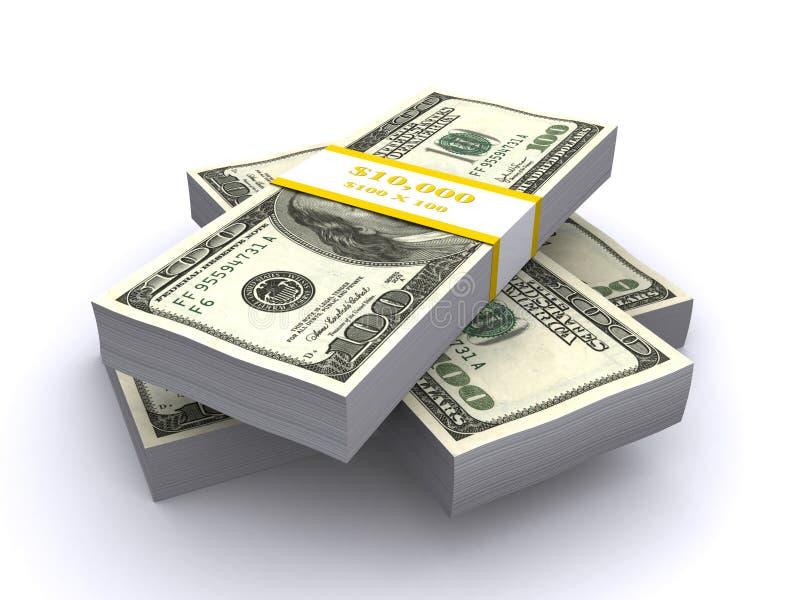 Download Stacks of $100 bills stock illustration. Image of hundred - 14316472