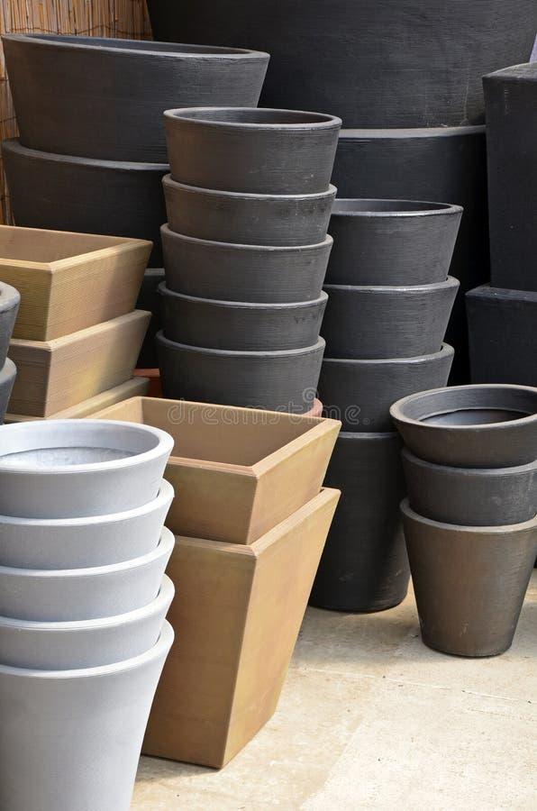 Free Stacks Of Garden Planters Stock Photo - 31167830