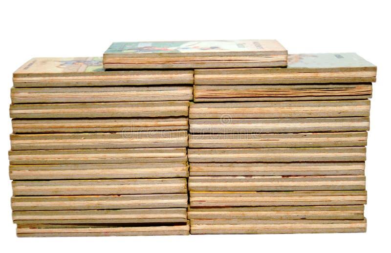 Stacks of Old Children's Books stock image