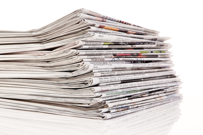 Download Stacks Of Old Newspapers And Magazines Stock Photo - Image: 30701326