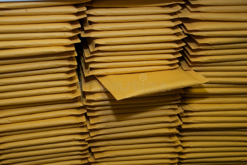 Download Stacks Of Padded Shipping Envelopes Stock Photo - Image: 6614994