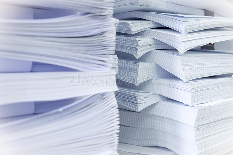Stacks of paper stock photos