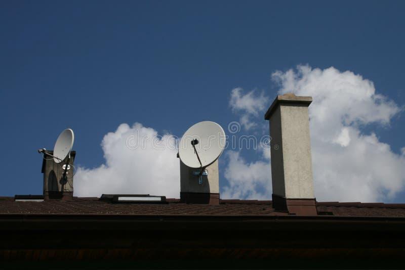 Stacks with satellites. royalty free stock image
