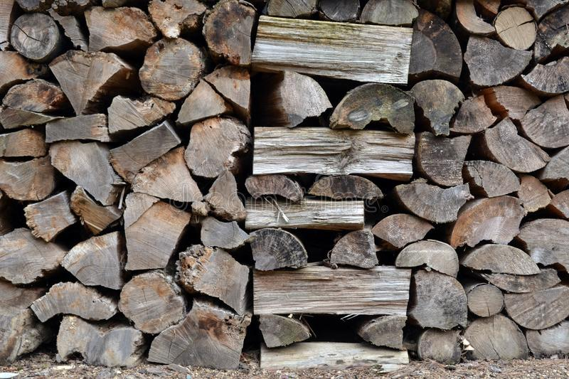 Stacks of sawn Korean woods. Pic was taken in August 2017 stock images