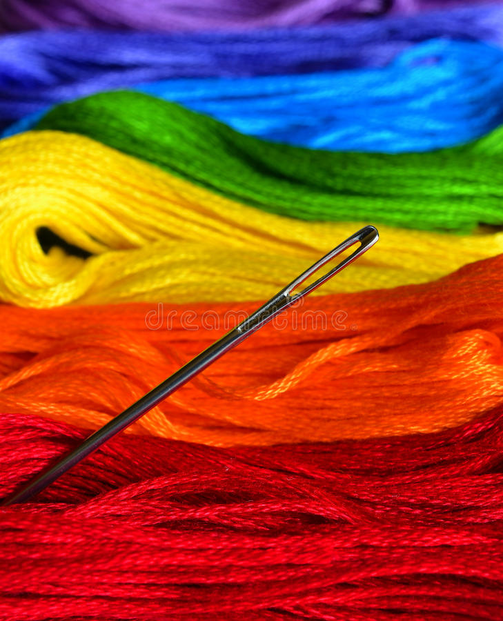 Download Stacks of Thread stock image. Image of blue, needle, cotton - 25938189