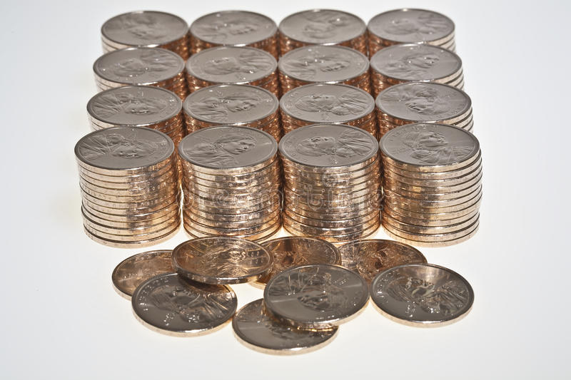 Download Stacks Of  US Dollar Gold Coins Stock Image - Image: 11816127