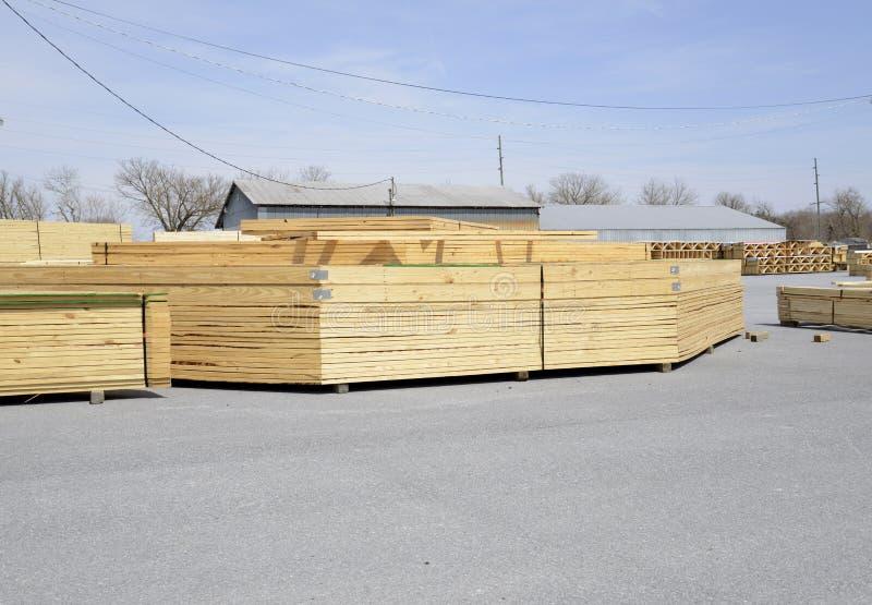 Stacks of wood trestles stock photos