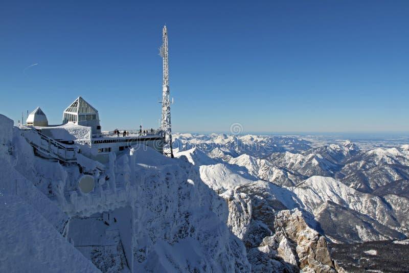 stacyjny góry zugspitze fotografia stock