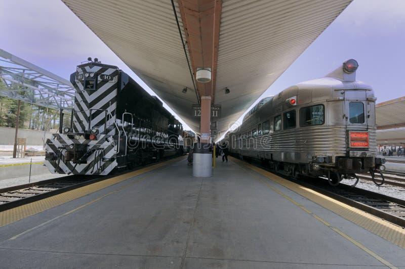stacyjny pociąg zdjęcie royalty free