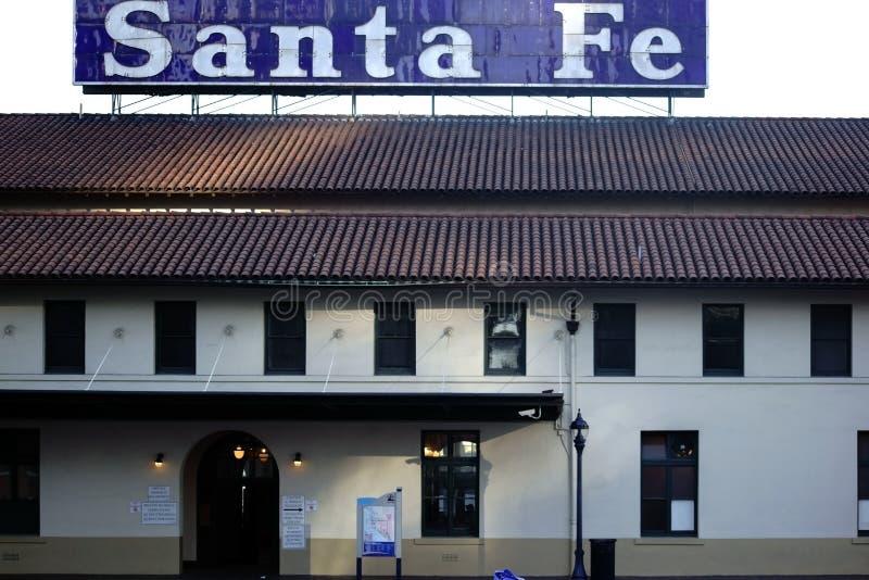 Stacyjny Santa Fe w San Diego fotografia royalty free