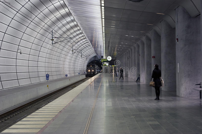 stacyjny taborowy metro obraz stock