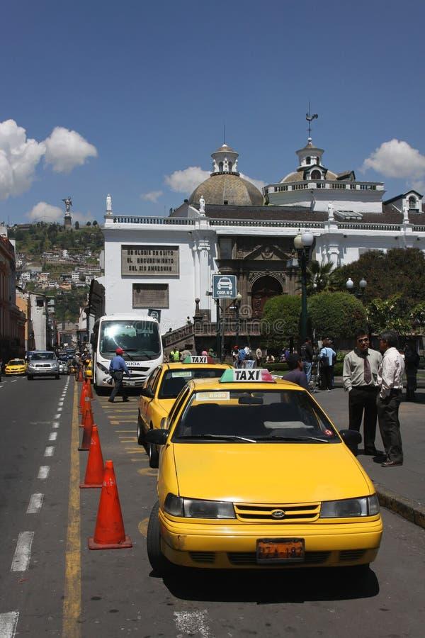 stacyjny taxi zdjęcia royalty free