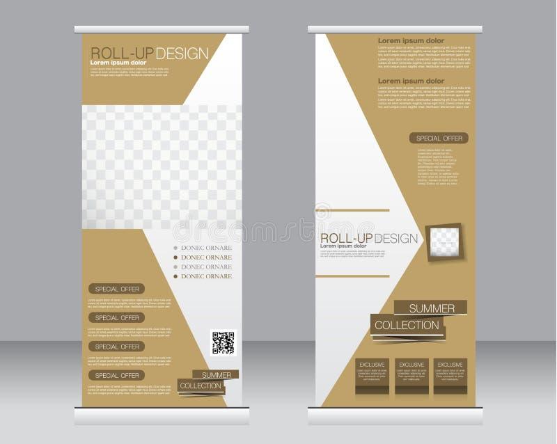 Stacza się up sztandaru statywowego szablon Abstrakcjonistyczny tło dla projekta, ilustracja wektor
