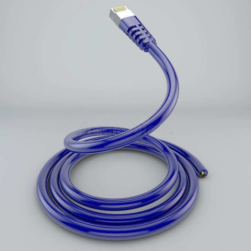 Staczający się etherneta kabel, połączenie z internetem, bandwidth, szerokie pasmo zdjęcia stock