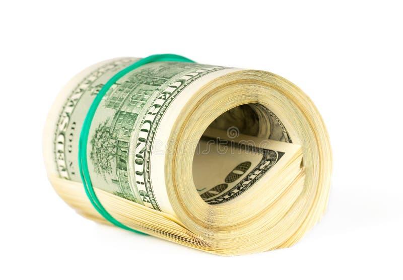 STACZAJĄCY SIĘ staczać się USA dolary obraz stock