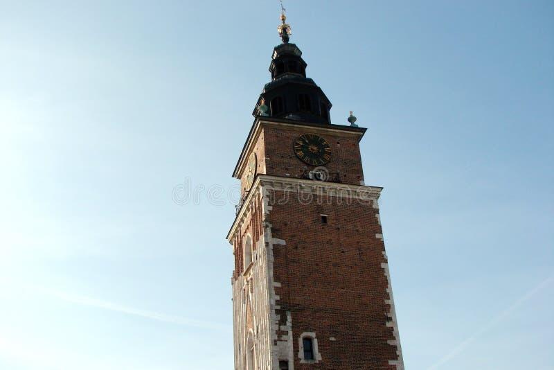 Stad †‹â€ ‹van Krakau Polen het landschap van moderne en oude Katholieke architectuur en monumenten van beeldhouwwerk stock afbeeldingen