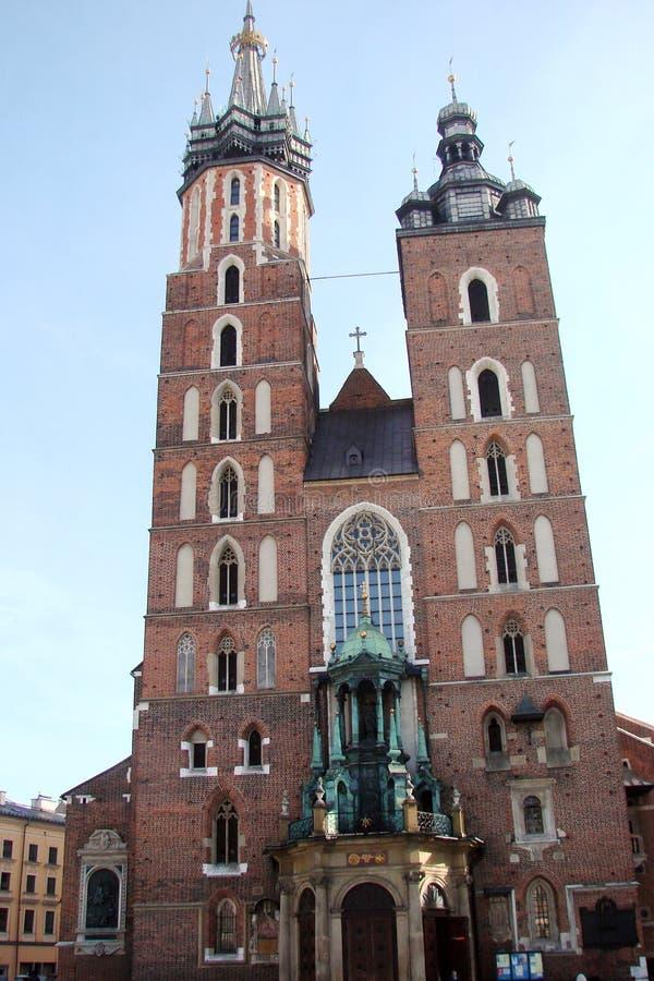 Stad †‹â€ ‹van Krakau Polen het landschap van moderne en oude Katholieke architectuur en monumenten van beeldhouwwerk royalty-vrije stock afbeeldingen
