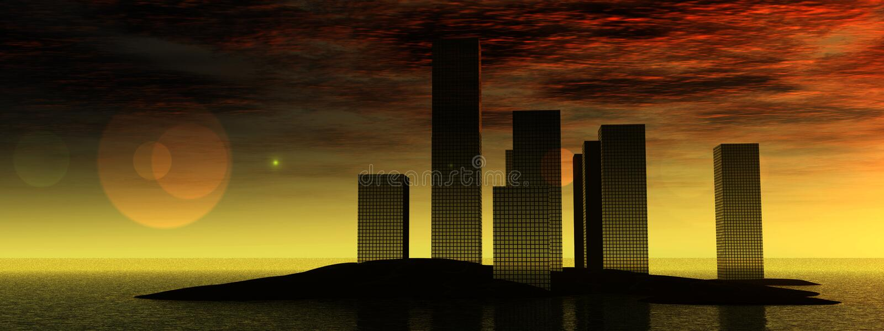Stad 10 van het water vector illustratie