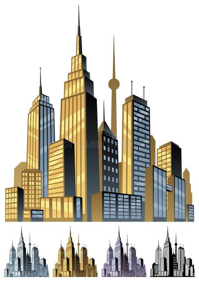 Stad royalty-vrije illustratie