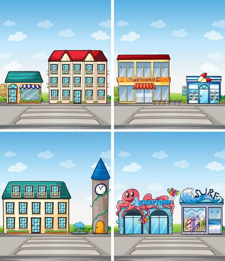 Stad vektor illustrationer