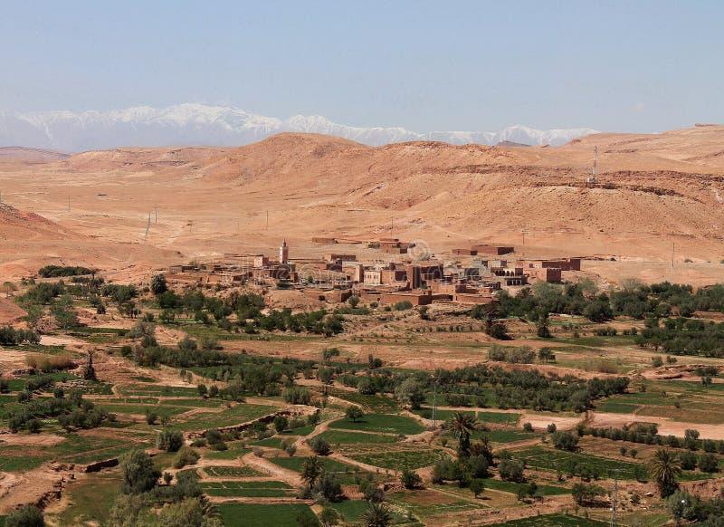 Stad Ait Benhaddou dichtbij Ouarzazate in Marokko royalty-vrije stock fotografie