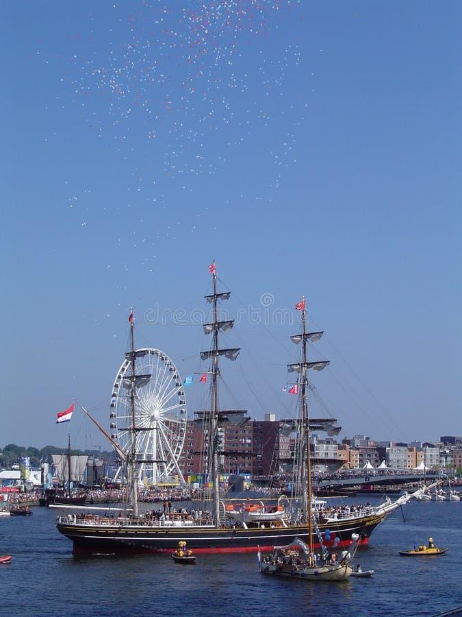 Stad Amsterdam at SAIL stock photos