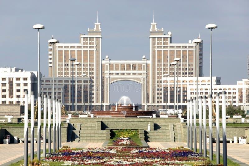 Stad Astana, ministerie van gas en olie stock afbeeldingen