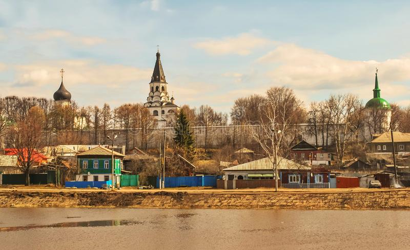 Stad av Alexandrov med Kreml royaltyfri foto