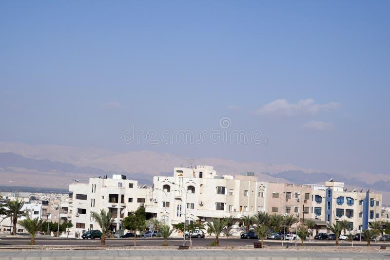 Stad av Aqaba, Jordanien arkivbilder