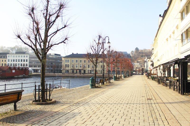 Stad av Arendal Norge arkivbilder