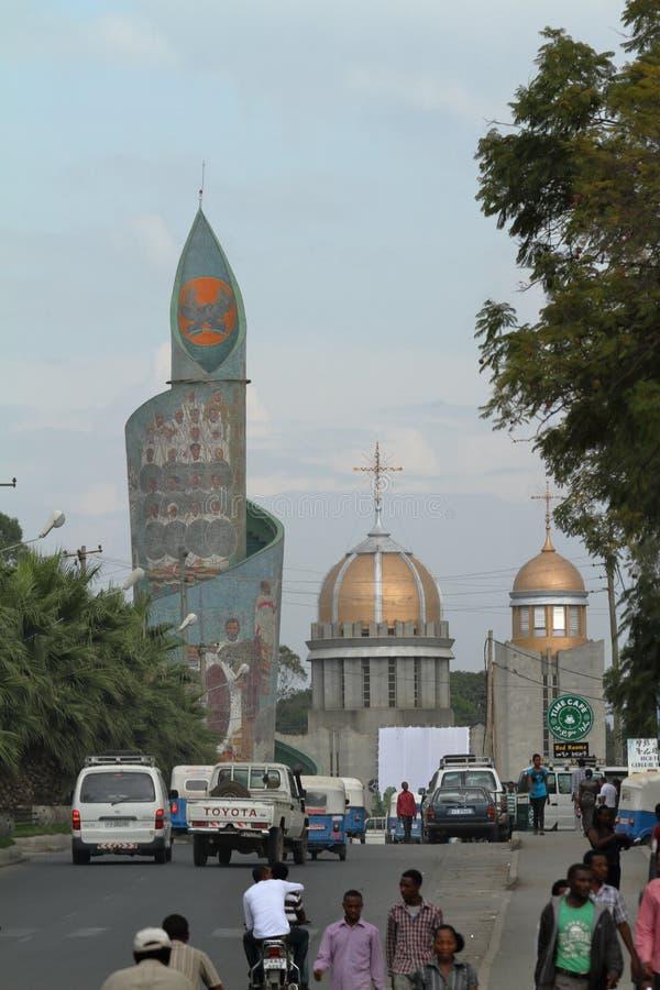 Stad av Awassa i Etiopien royaltyfria foton
